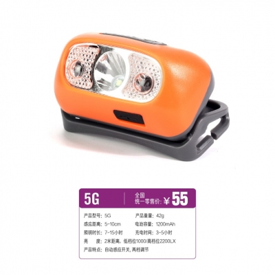 5G 感应头灯